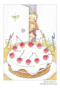 さくらんぼケーキ