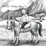 「旅」ってファンタジー。鉛筆で乗馬の絵を描きました。