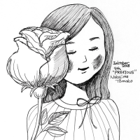 バラと女の子