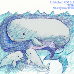 1日1枚「鯨」