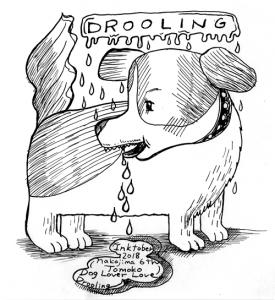 イラストレーター なかじまともこ ペン画 犬 よだれ