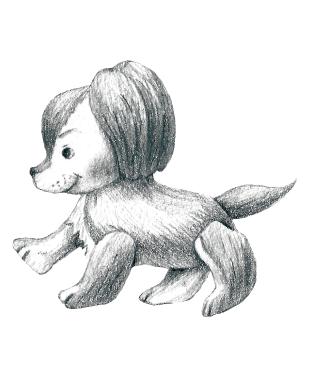 犬のぬいぐるみのイラスト